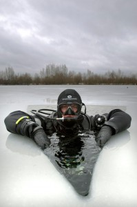 This is definitely not me in a dry suit. This is Mark Bruce. But you can do this in a dry suit!