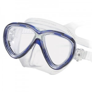 The Dive Shack - TUSA, Freedom, One, Diving, dive, mask, dual lens, silicone, clear, blue