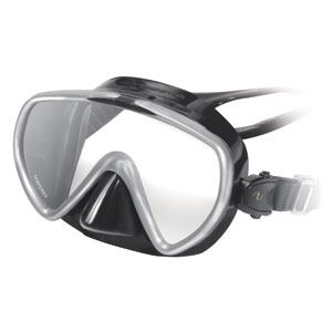 The Dive Shack - TUSA, Concero, Diving, dive, mask, silver, black, single lens
