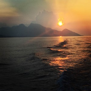 Sunset - Solomon Islands, the dive shack, snorkel safari, adelaide, scuba, diving, snorkelling, spearfishing, freediving