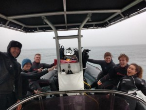 Having a whale of a time diving on The Nauti Nomad in a Dry Suit.